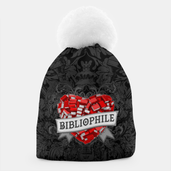 Thumbnail image of Bibliophile Heart Beanie, Live Heroes