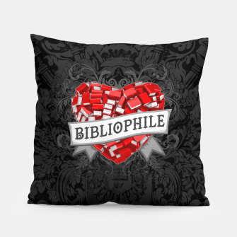 Thumbnail image of Bibliophile Heart Pillow, Live Heroes