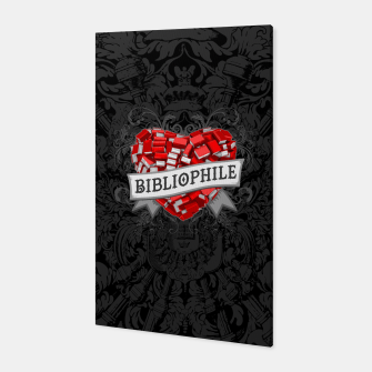 Thumbnail image of Bibliophile Heart Canvas, Live Heroes