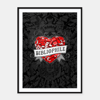 Thumbnail image of Bibliophile Heart Framed poster, Live Heroes