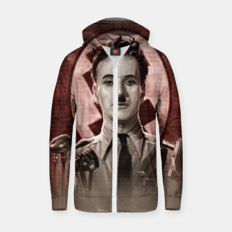Thumbnail image of The Great Dictator - Charlie Chaplin Cotton zip up hoodie, Live Heroes