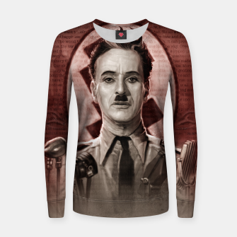 Thumbnail image of The Great Dictator - Charlie Chaplin Woman cotton sweater, Live Heroes