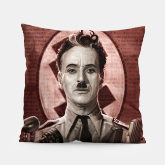 Thumbnail image of The Great Dictator - Charlie Chaplin Pillow, Live Heroes