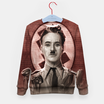 Thumbnail image of The Great Dictator - Charlie Chaplin Kid's sweater, Live Heroes