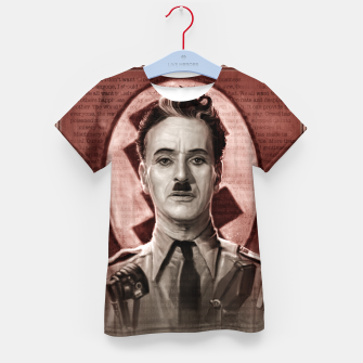 Thumbnail image of The Great Dictator - Charlie Chaplin Kid's t-shirt, Live Heroes