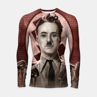 Thumbnail image of The Great Dictator - Charlie Chaplin Longsleeve rashguard , Live Heroes