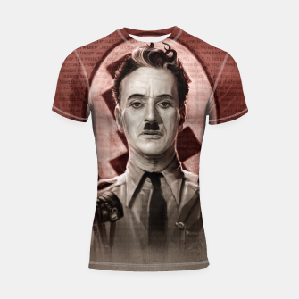 Thumbnail image of The Great Dictator - Charlie Chaplin Shortsleeve rashguard, Live Heroes