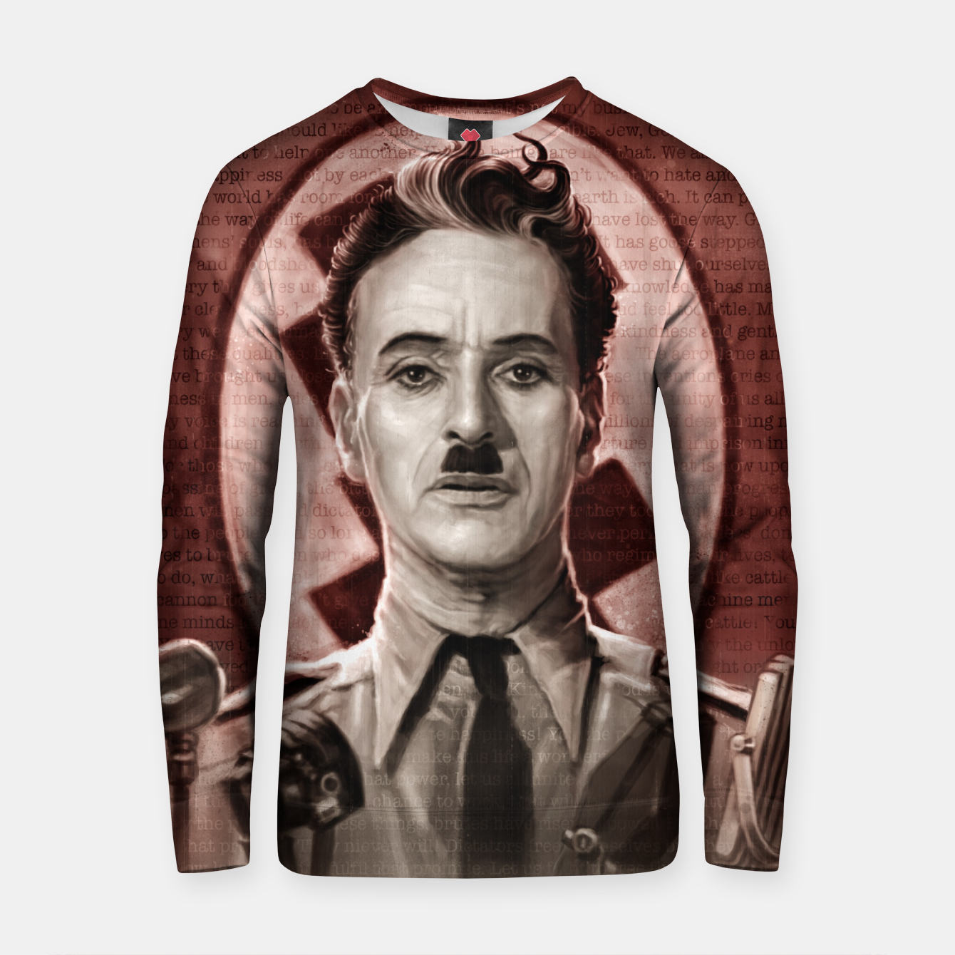 Image of The Great Dictator - Charlie Chaplin Cotton sweater - Live Heroes