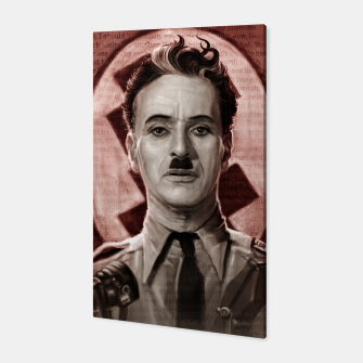 Thumbnail image of The Great Dictator - Charlie Chaplin Canvas, Live Heroes