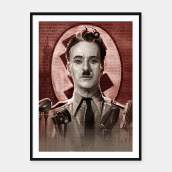 Thumbnail image of The Great Dictator - Charlie Chaplin Framed poster, Live Heroes