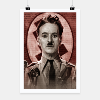 Thumbnail image of The Great Dictator - Charlie Chaplin Poster, Live Heroes