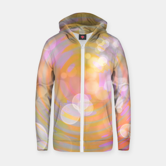 Thumbnail image of Abstract Flower Wave Bubbles Cotton zip up hoodie, Live Heroes