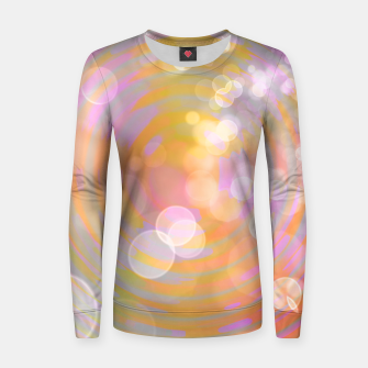 Thumbnail image of Abstract Flower Wave Bubbles Woman cotton sweater, Live Heroes