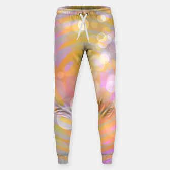 Thumbnail image of Abstract Flower Wave Bubbles Cotton sweatpants, Live Heroes