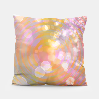 Thumbnail image of Abstract Flower Wave Bubbles Pillow, Live Heroes
