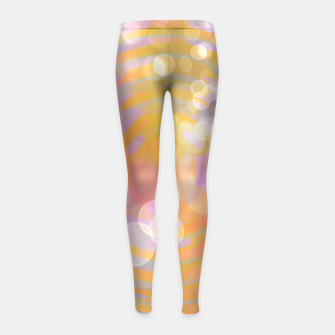 Thumbnail image of Abstract Flower Wave Bubbles Girl's leggings, Live Heroes
