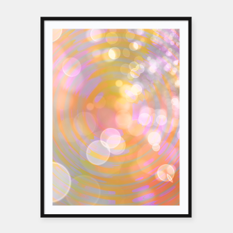 Thumbnail image of Abstract Flower Wave Bubbles Framed poster, Live Heroes