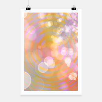 Thumbnail image of Abstract Flower Wave Bubbles Poster, Live Heroes