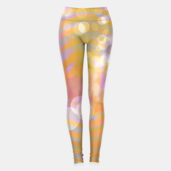 Thumbnail image of Abstract Flower Wave Bubbles Leggings, Live Heroes