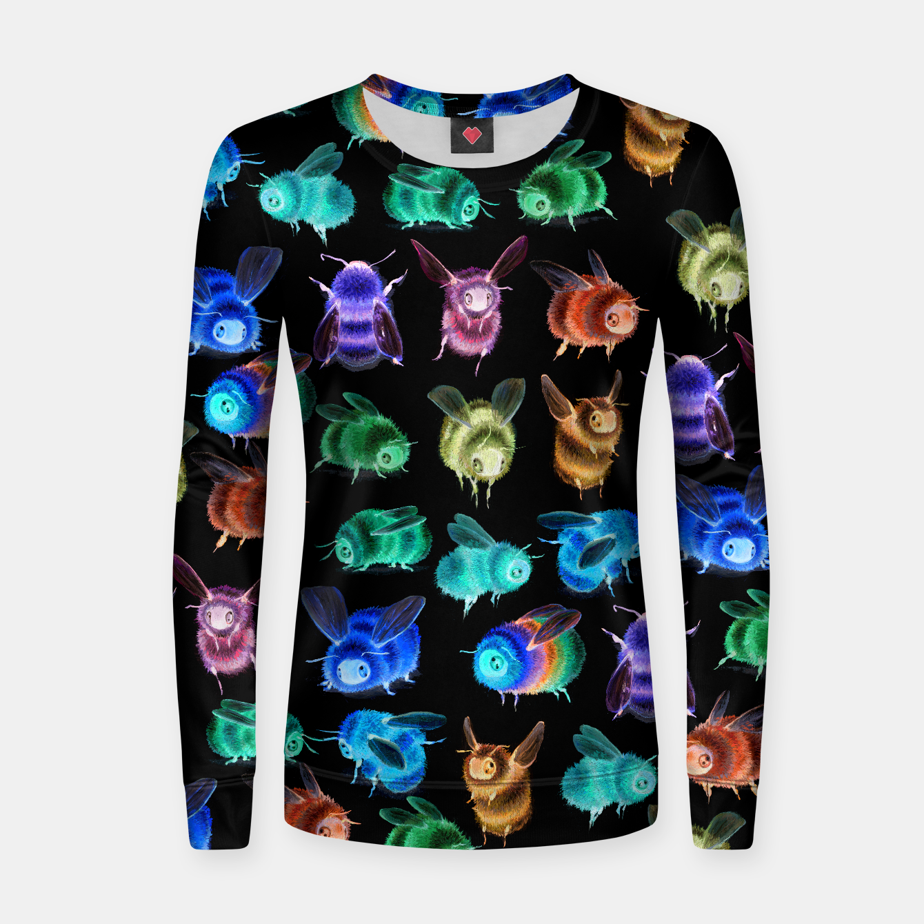 Image of Inverse Fuzzy Bee Fitted Sweatshirt - Live Heroes
