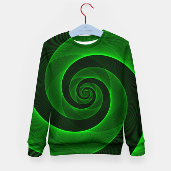 Miniaturka Bright Neon Green Infinity Mesh Spiral Matrix Kid's sweater, Live Heroes