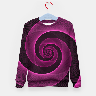 Miniaturka Bright Hot Neon Pink Infinity Mesh Spiral Matrix Kid's sweater, Live Heroes