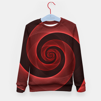 Miniaturka Bright Neon Red Infinity Mesh Spiral Matrix Kid's sweater, Live Heroes