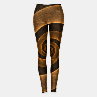 Imagen en miniatura de Bright Neon Orange Infinity Mesh Spiral Matrix Leggings, Live Heroes
