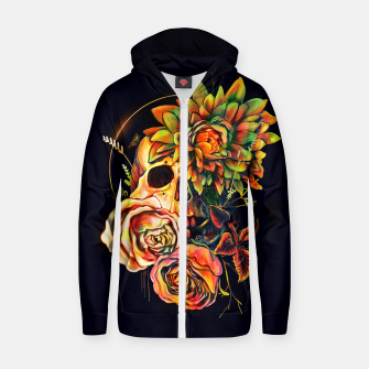 Thumbnail image of Life and Death Cotton zip up hoodie, Live Heroes
