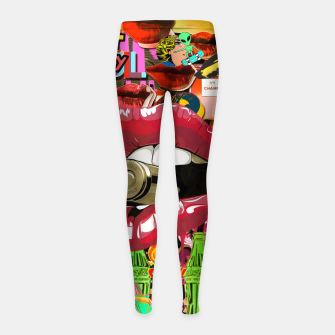 Thumbnail image of Collage XL Girl's leggings, Live Heroes