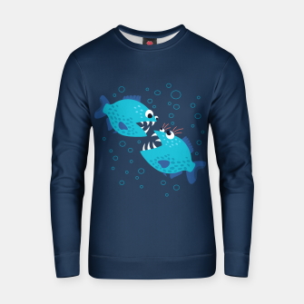 Thumbnail image of Funny Piranha Fish Gossiping Cotton sweater, Live Heroes