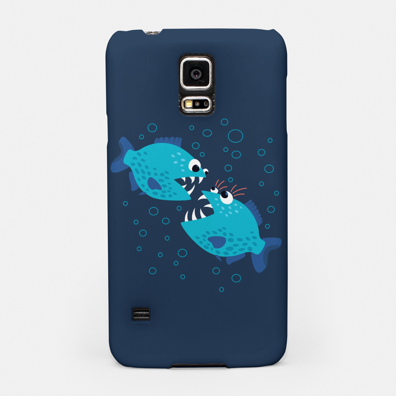 Image of Funny Piranha Fish Gossiping Samsung Case - Live Heroes