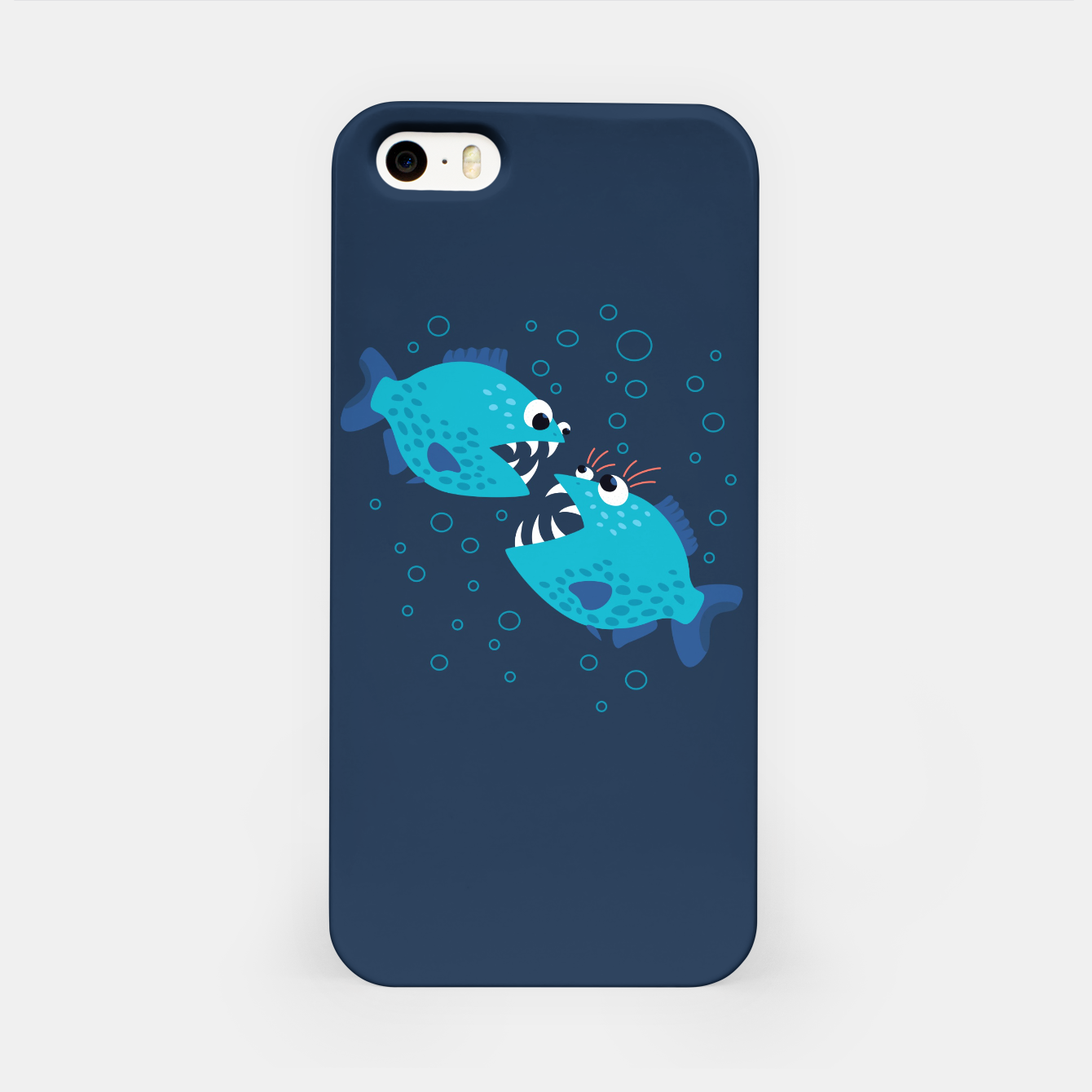 Image of Funny Piranha Fish Gossiping iPhone Case - Live Heroes