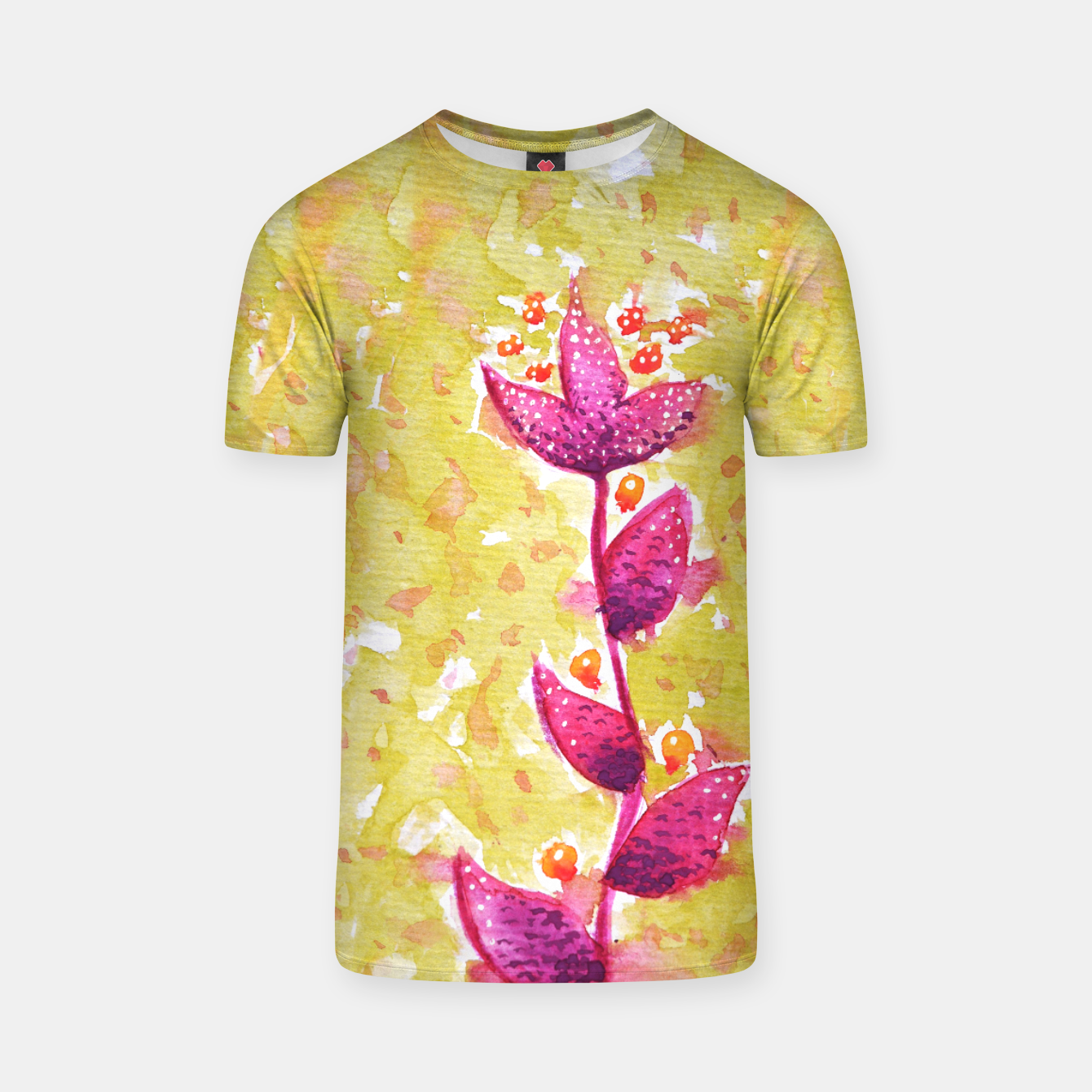 Image of Abstract Purple Watercolor Flower T-shirt - Live Heroes