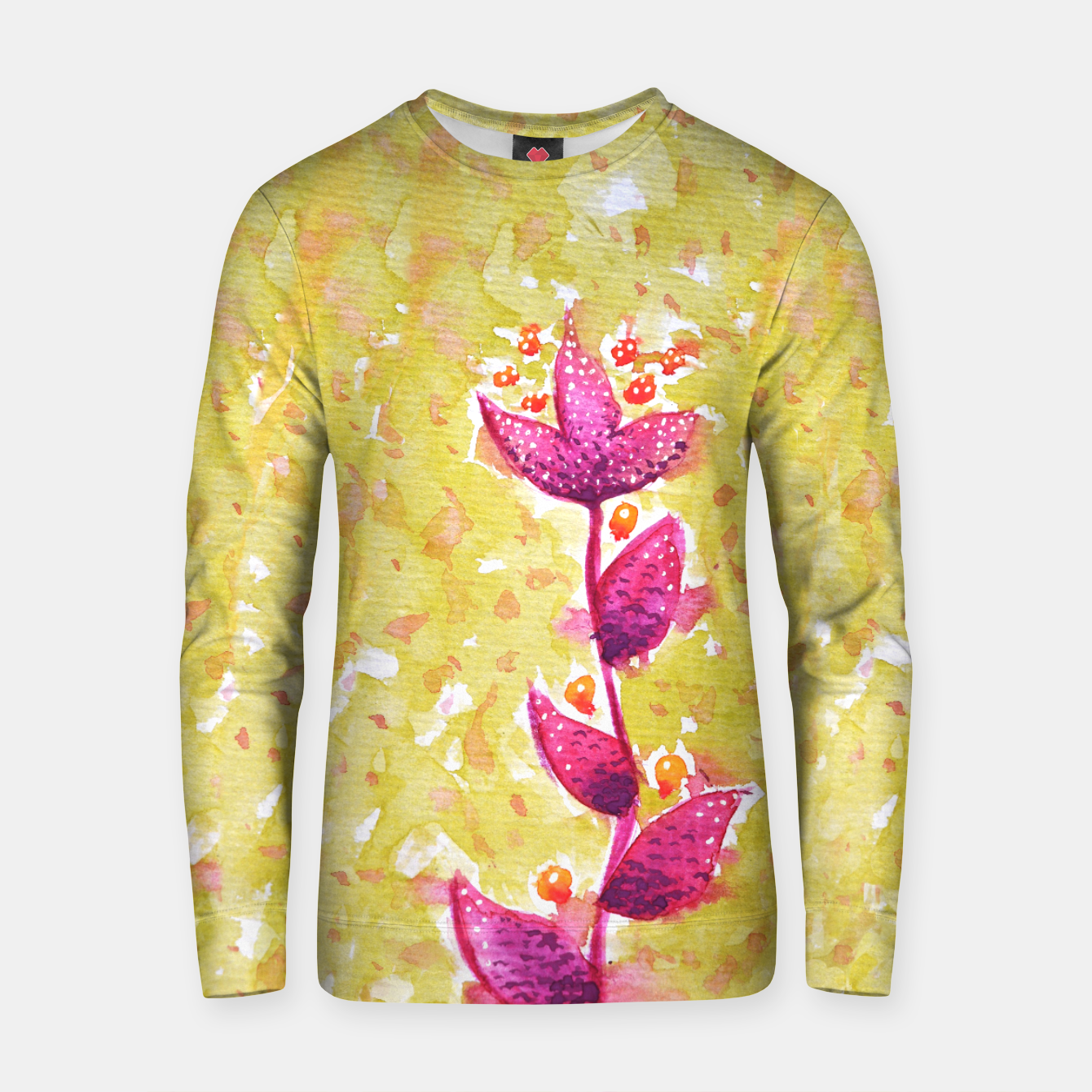 Image of Abstract Purple Watercolor Flower Cotton sweater - Live Heroes