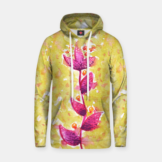 Abstract Purple Watercolor Flower Cotton hoodie thumbnail image