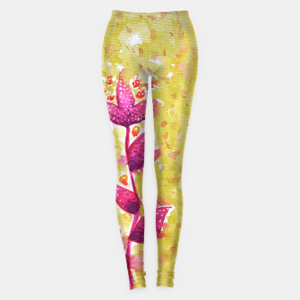 Thumbnail image of Abstract Purple Watercolor Flower Leggings, Live Heroes