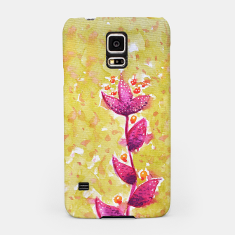Abstract Purple Watercolor Flower Samsung Case thumbnail image