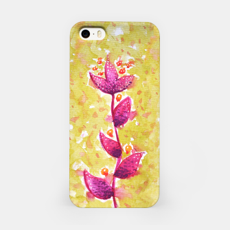Abstract Purple Watercolor Flower iPhone Case thumbnail image
