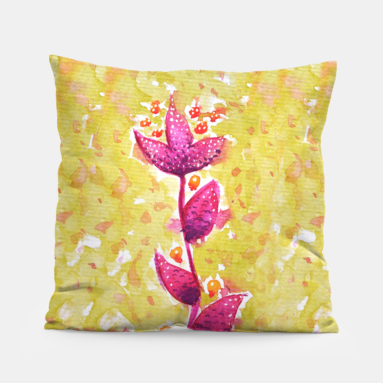 Image of Abstract Purple Watercolor Flower Pillow - Live Heroes