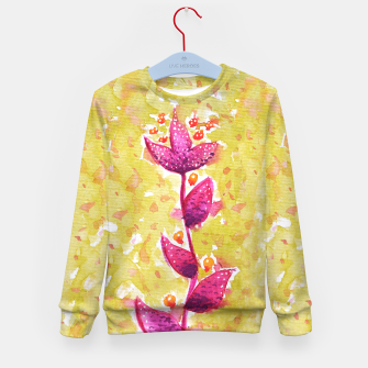 Abstract Purple Watercolor Flower Kid's sweater thumbnail image