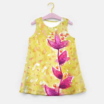 Abstract Purple Watercolor Flower Girl's summer dress thumbnail image