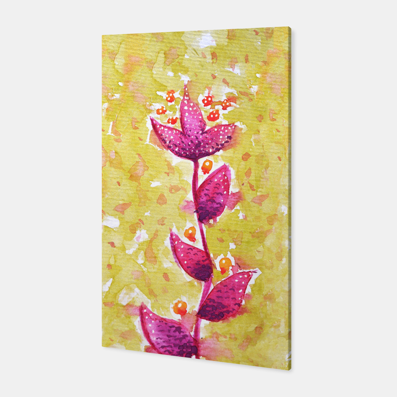 Image of Abstract Purple Watercolor Flower Canvas - Live Heroes