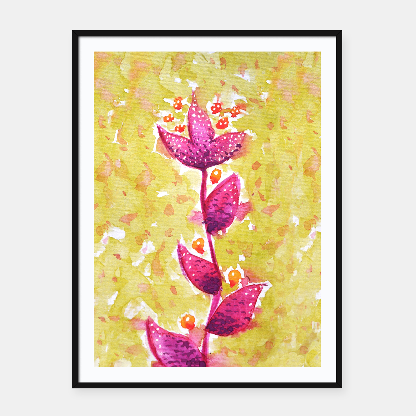 Image of Abstract Purple Watercolor Flower Framed poster - Live Heroes