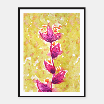 Thumbnail image of Abstract Purple Watercolor Flower Framed poster, Live Heroes