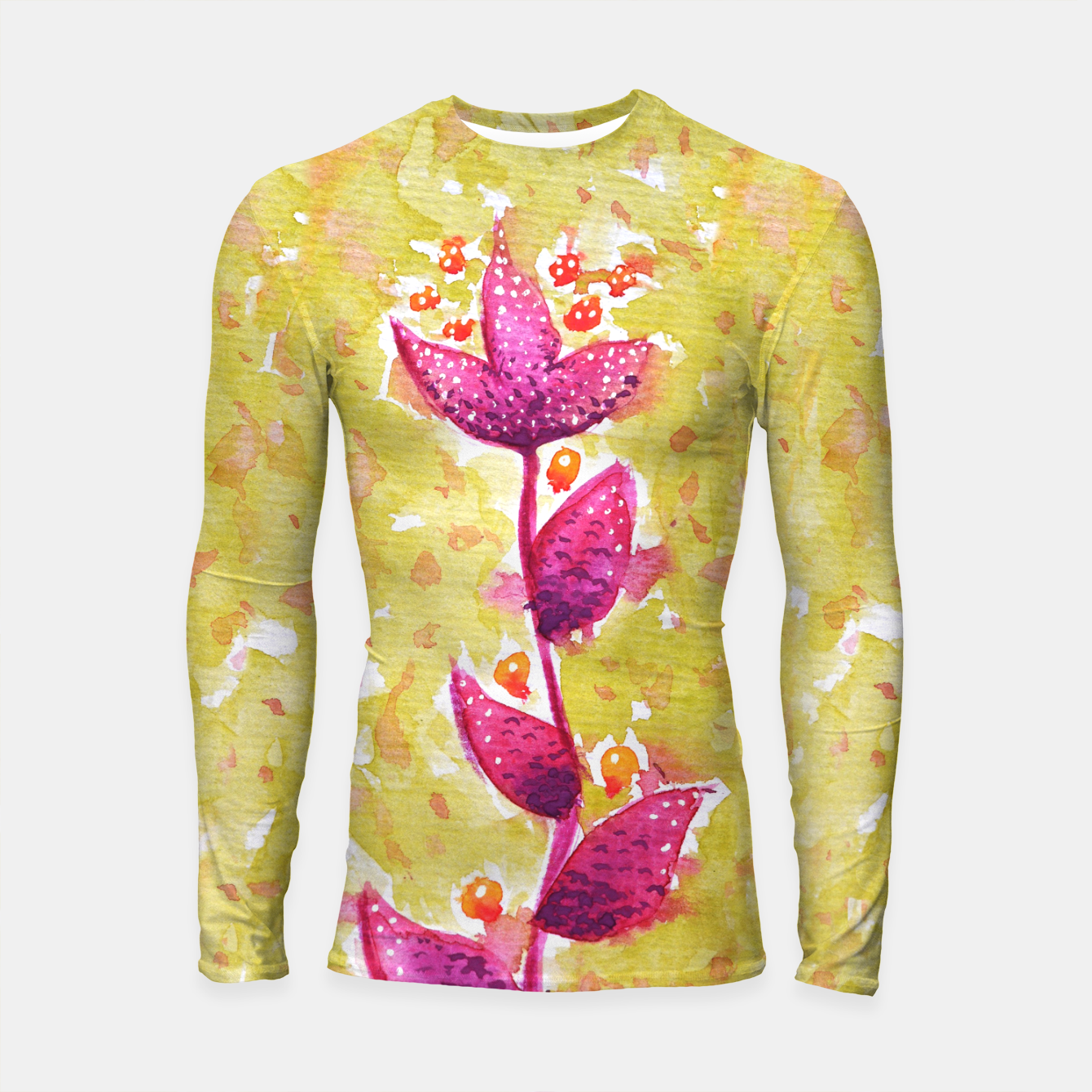 Image of Abstract Purple Watercolor Flower Longsleeve rashguard  - Live Heroes