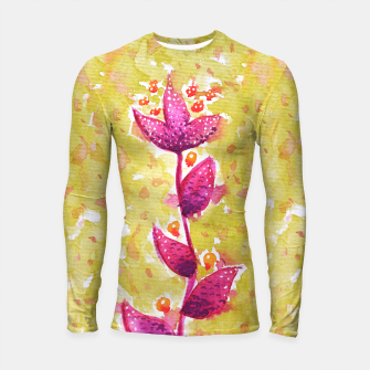Abstract Purple Watercolor Flower Longsleeve rashguard  thumbnail image