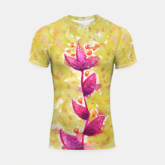 Thumbnail image of Abstract Purple Watercolor Flower Shortsleeve rashguard, Live Heroes