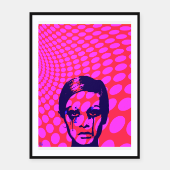 Miniatur Iconic Twiggy Framed poster, Live Heroes