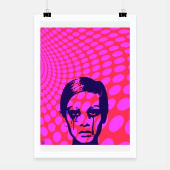 Miniatur Iconic Twiggy Poster, Live Heroes